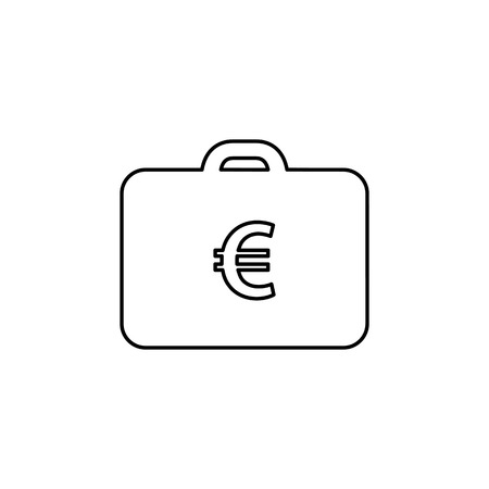pack of dollars: Money case icon flat style simple vector illustration. Illustration
