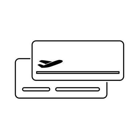 Plane ticket icon flat style simple vector illustration. Boarding pass.