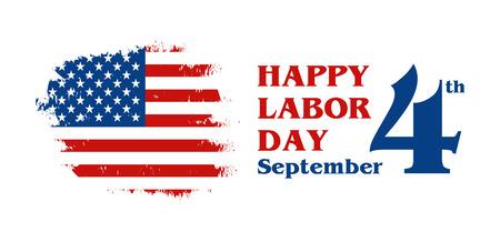 American Labor day greeting card vector illustration. Illustration