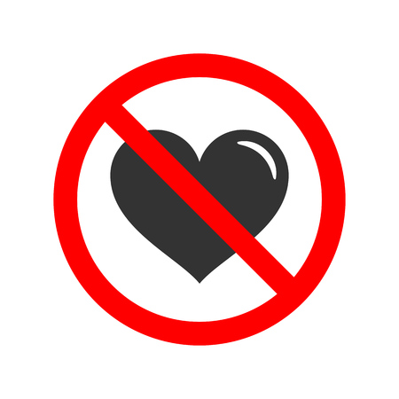No love allowed sign.