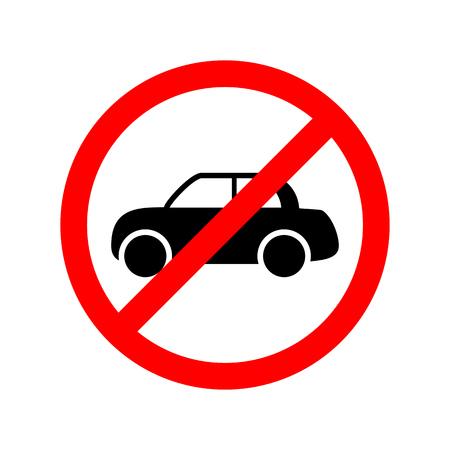 No car allowed sign.