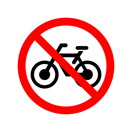 No bicycle allowed sign.