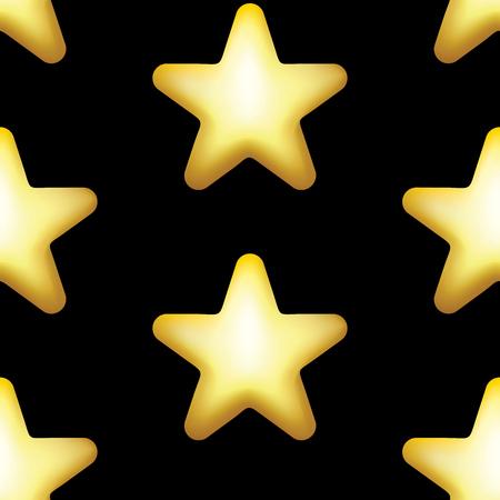 Star vector icon, rank, gold favorite web symbol seamless pattern.