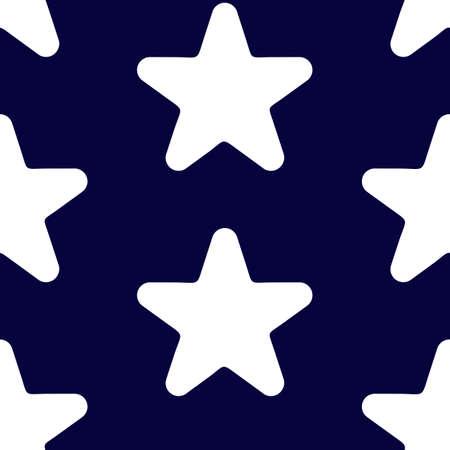 Star vector icon, rank, favorite web symbol seamless pattern. Illustration