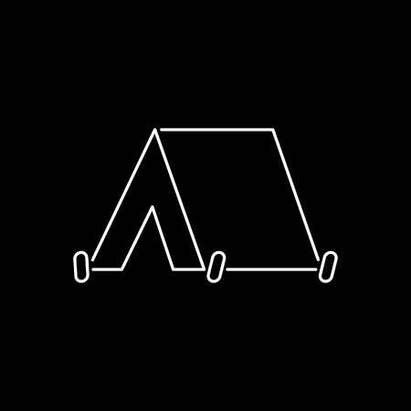 Tent camping booth icon simple flat illustration