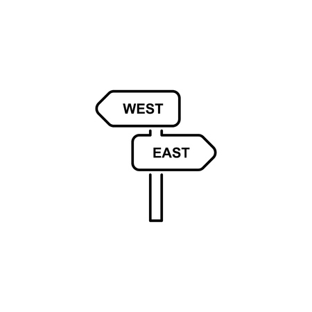 Direction sign simple flat style illustration icon Illustration