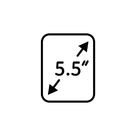 Screen size. Flat vector icon. Simple hardware icon illustration