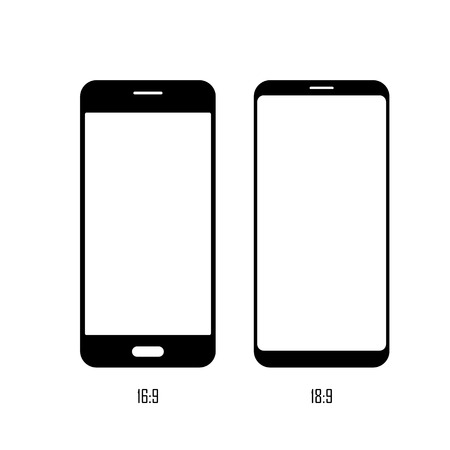 Smartphone screen size. Flat vector icon. Simple hardware icon illustration Ilustrace