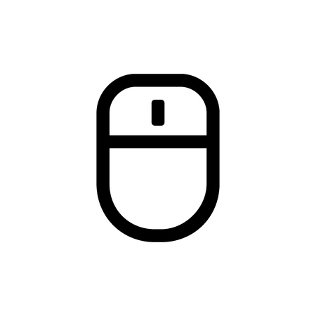 Mouse icon for simple flat style ui design.