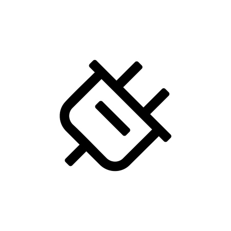 Plug adapter icon for simple flat style ui design.