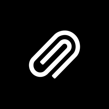 Clip icon for simple flat style ui design. Illustration