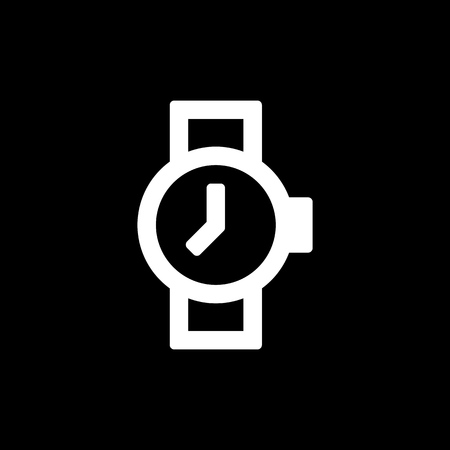 Watch icon for simple flat style ui design.
