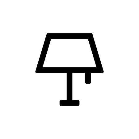 Lamppictogram voor eenvoudig, plat ui-ontwerp.