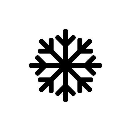 Snowflake icon for simple flat style ui design.