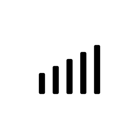 Network signal strenght icon for simple flat style ui design.