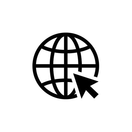 Internet icon. Go to web sign vector illustration. Vettoriali