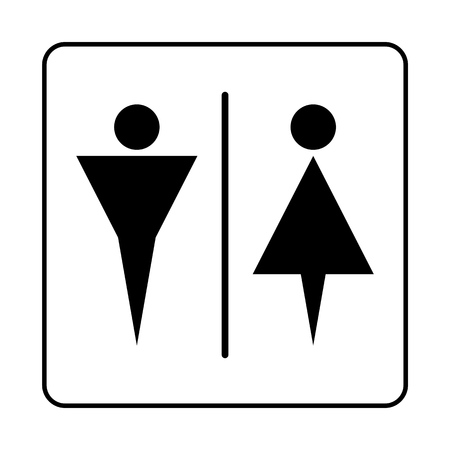 WC Toilet door plate icon. Simple bathroom plate.