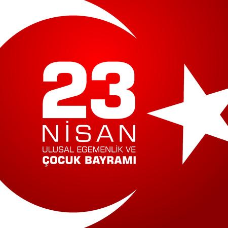 23 nisan cocuk baryrami. Translation: Turkish April 23 Childrens Day. Vector illustration Çizim