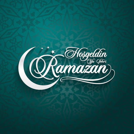 Hosgeldin ya sehri Ramazan. Traduction du turc: Accueillir le Ramadan. Vecteurs