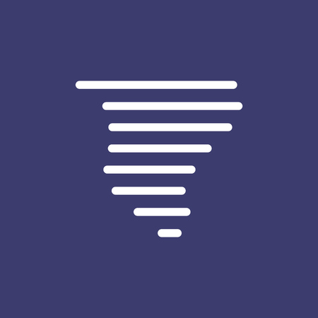 Tornado icon for simple flat style weather ui design. Vectores
