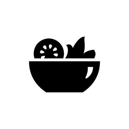 Salad icon simple flat style illustration image.