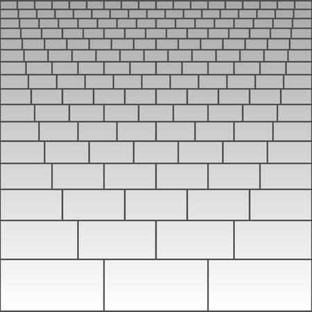 Brick wall pattern background flat vector illustration.