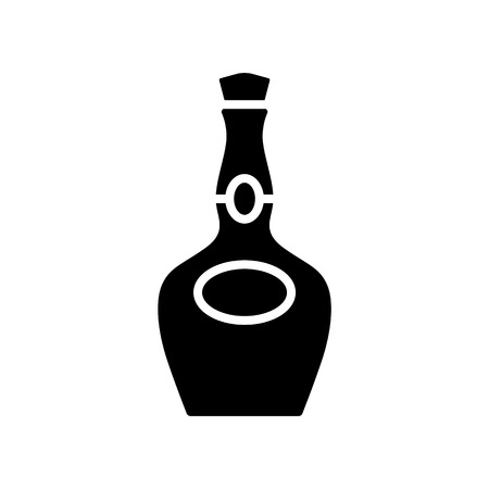 Alcohol bottle icon simple flat style