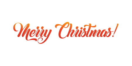 Merry Christmas lettering, vector illustration. Christmas greeting card text. Imagens - 127472066