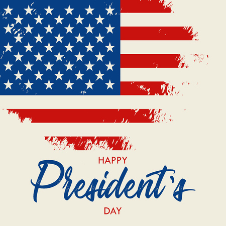 Happy Presidents Day vector illustration Hand drawn text lettering for Presidents day in USA. Script. Calligraphic design for print greetings card.