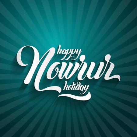 Nowruz greeting Happy Nowruz holiday Iranian new year. Stock Illustratie