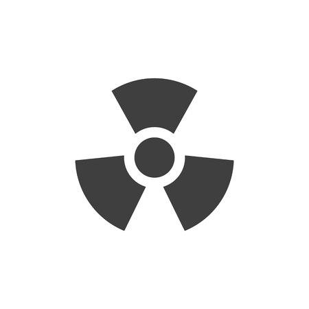 Toxic radioactive medical icon simple flat illustration.