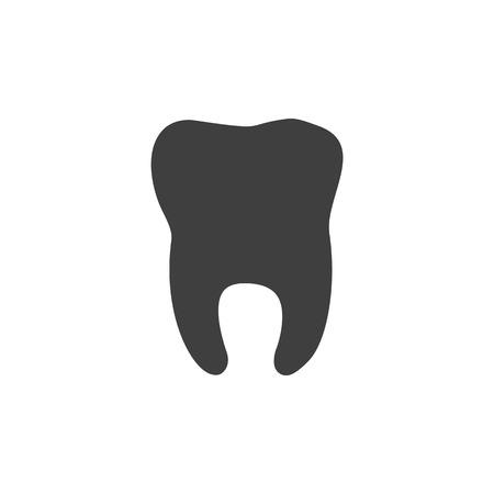 Tooth dental medical icon simple flat illustration.
