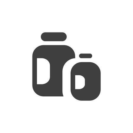 Pills medical icon sign simple flat illustration. Ilustração