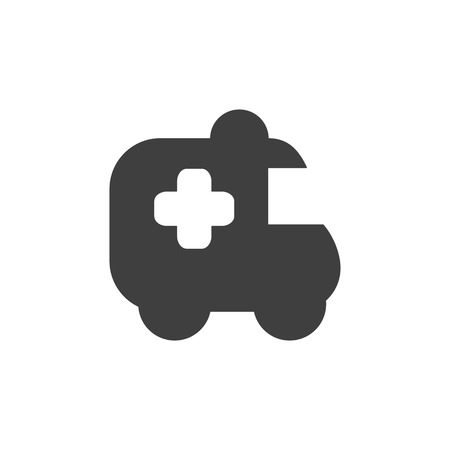 Ambulance icon medical icon simple flat illustration. Illustration