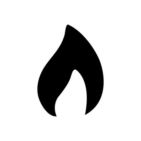 Flammable packaging symbol simple flat style icon .