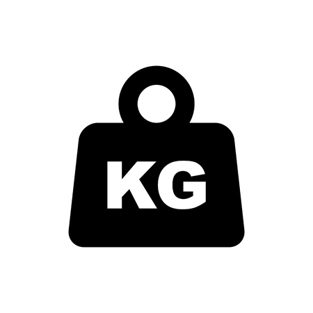 Weight packaging symbol simple flat style icon isolated.