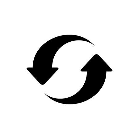 Recycling ackaging symbol simple flat style icon isolated.