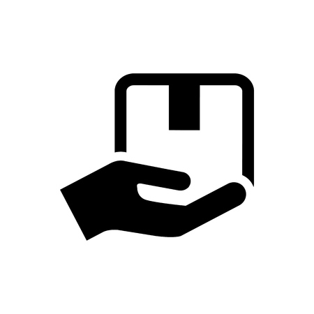 Handle with care packaging symbol simple flat style icon isolated.