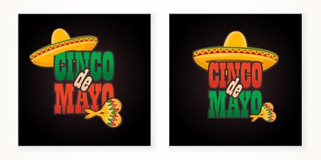 Cinco de Mayo lettering greeting text illustration. Imagens - 124044854