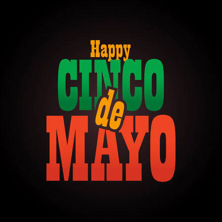 Cinco de Mayo lettering greeting text illustration. Imagens - 124044857