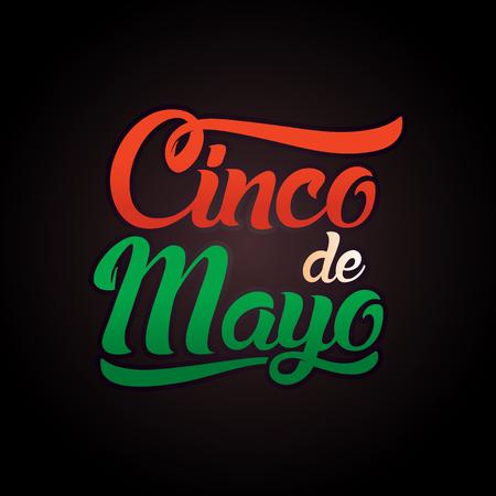 Cinco de Mayo lettering greeting text illustration. Imagens - 124044859