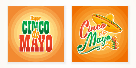 Cinco de Mayo lettering greeting text illustration. Imagens - 124044864