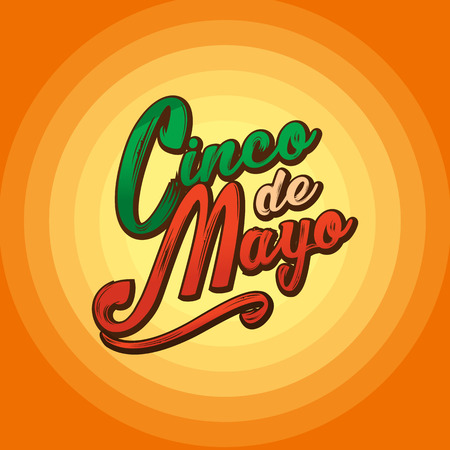 Cinco de Mayo lettering greeting text illustration. Imagens - 124044865