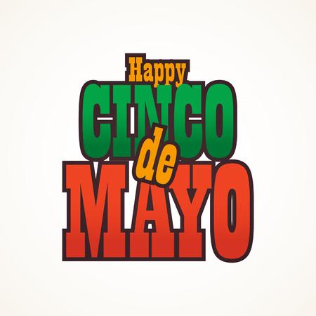 Cinco de Mayo lettering greeting text illustration. Imagens - 124044866