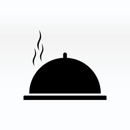 Cloche food plate vector illustration. Cloche icon simple.