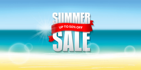 Summer sale badge label promo banner template.