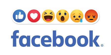 Baku. Azerbaijan - April 23. 2019 Facebook new like reactions buttons Redakční