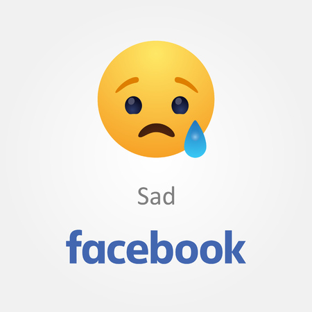 Baku, Azerbaijan - April 14, 2017 Facebook new like button Emoji Editorial