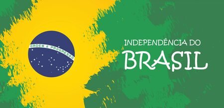 Brazil independence day celebration greeting card illustration. Ilustração