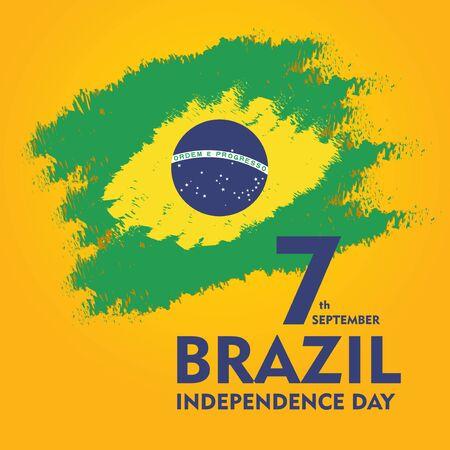 Brazil independence day celebration greeting card illustration. Imagens - 129521990